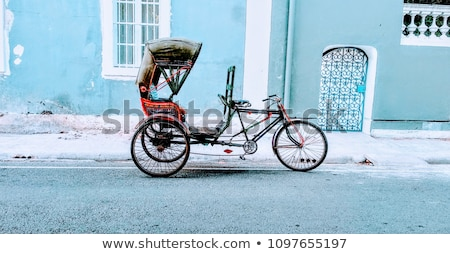 old vintage bicycle in india stock photo © mikko