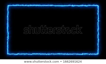 Stockfoto: Blauw · vlammen · frame · abstract · geïsoleerd