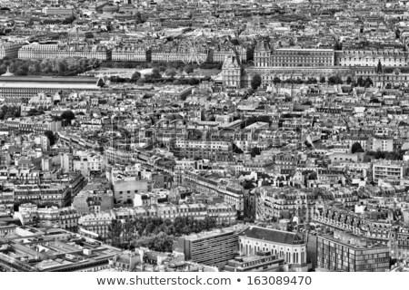 Légifelvétel Párizs párizsi környék épületek városi Stock fotó © chris2k