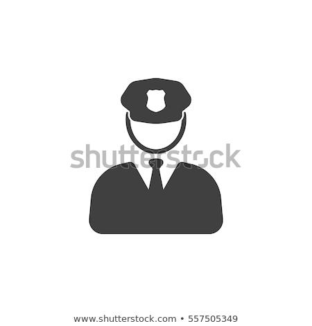 Polícia vetor ícones aplicação da lei luz poder Foto stock © Slobelix