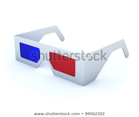 Clássico descartável cartão óculos 3d olho tecnologia Foto stock © lenapix