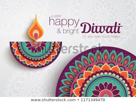 mooie · diwali · wenskaart · kleurrijk · gelukkig · abstract - stockfoto © bharat