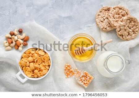 Cornflakes with coffee and apple juice Stock photo © raphotos