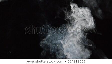 Fumée vapeur noir feu résumé Photo stock © rogerashford