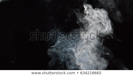 duman · buhar · siyah · yangın · soyut - stok fotoğraf © rogerashford