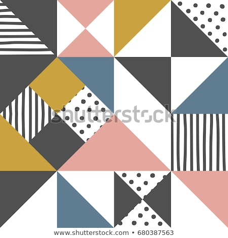 seamless geometric pattern with christmas colors  Stock photo © creative_stock