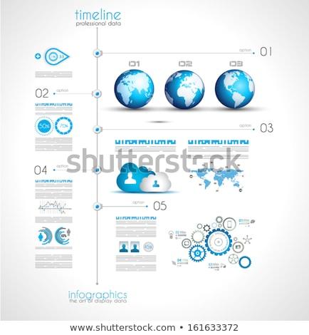 Display gegevens communie om Stockfoto © DavidArts