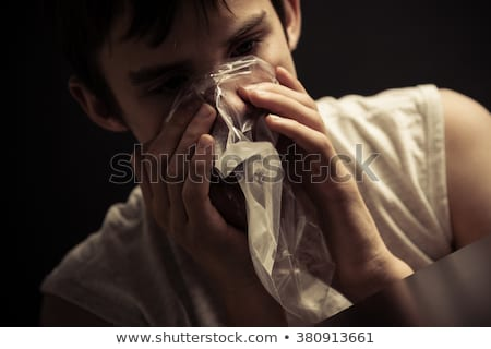 Close-up Of Person Sniffing Drugs Stock photo © AndreyPopov
