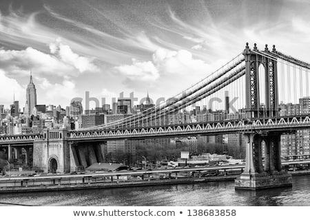 New · York · City · linha · do · horizonte · cor · ilustração · estátua · liberdade - foto stock © maxmitzu