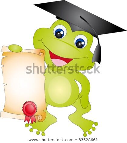 Stock photo: Frog graduate