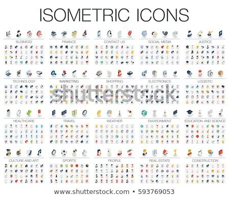 Establecer color iconos de la web diseno negocios ordenador Foto stock © elenapro