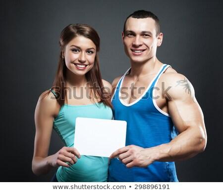 человека спортивный мускулистое тело фитнес Сток-фото © Nejron