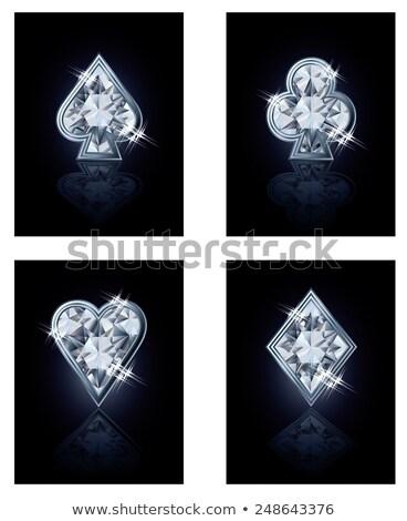 блестящий покер карт алмазов деньги фон Сток-фото © carodi