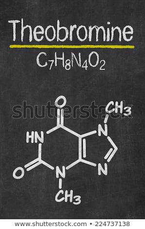 кофеин · химического · структуры · доске · рисунок · доске - Сток-фото © zerbor