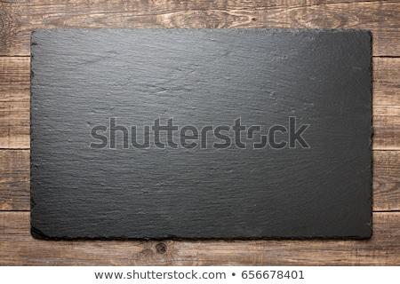 blank slate on wooden background stock photo © stevanovicigor