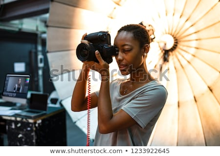 Female photographer. Stock photo © oscarcwilliams