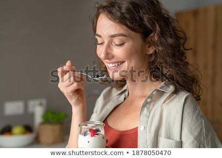 женщину · фрукты · корзины · изолированный · белый - Сток-фото © id7100