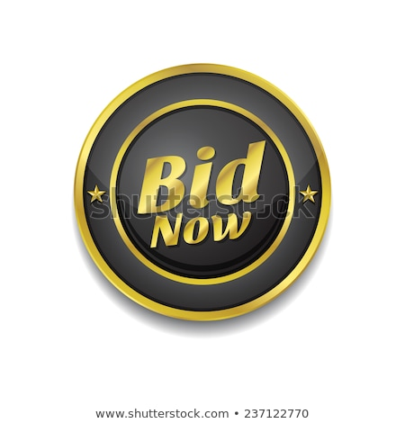 Bid Now Gold Vector Icon Button Stock photo © rizwanali3d