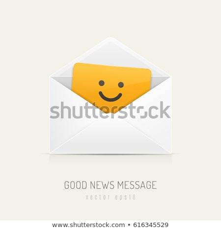Bonnes nouvelles enveloppe bon ciel bleu succès Photo stock © devon