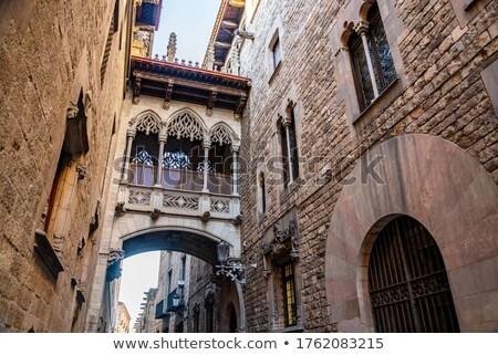 Nascido distrito Barcelona Espanha ver estreito Foto stock © nito
