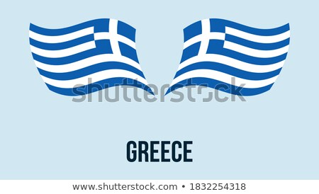 Map on flag button of Hellenic Republic, Greece Stock photo © Istanbul2009