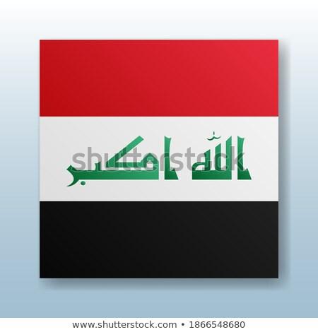 Gomb szimbólum Irak zászló térkép fehér Stock fotó © mayboro1964