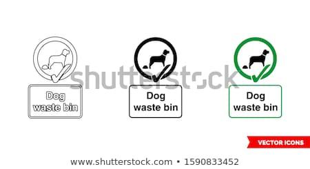 Hond afval teken zingen blauwe hemel honden Stockfoto © njnightsky