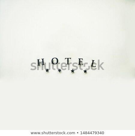 hotel wording isolate on white background Stock photo © vinnstock