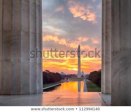 Washington Monument sunset in DC USA Stock photo © lunamarina