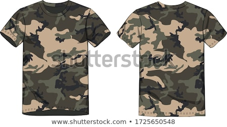 camouflage tshirt Stock photo © ozaiachin