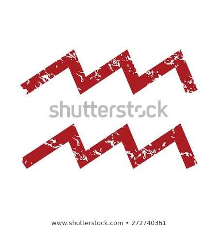 Red grunge Aquarius logo Stock photo © ylivdesign