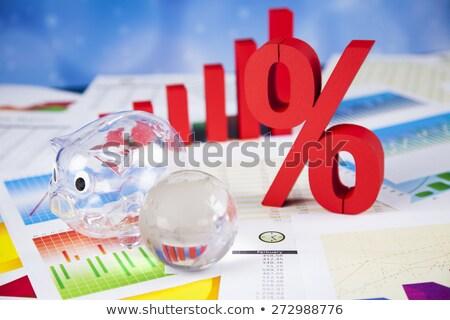 パーセンテージ 割引 カラフル にログイン 赤 金融 ストックフォト © JanPietruszka