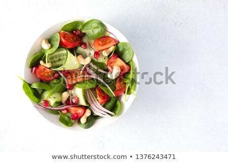 olive, tomato and onion salad Stock photo © jonnysek