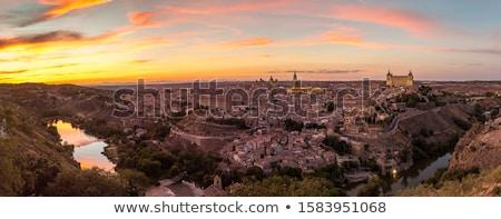 Toledo at night Stock photo © rmbarricarte