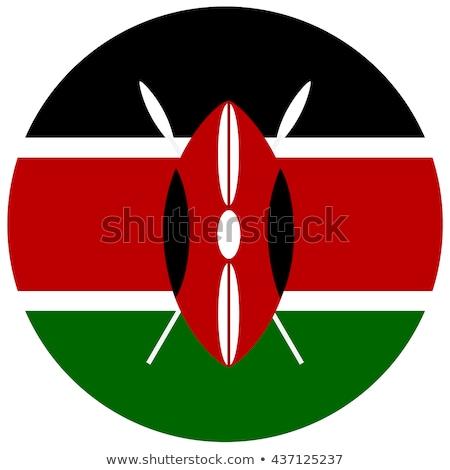 gomb · zászló · Kenya · fém · keret · utazás - stock fotó © mikhailmishchenko