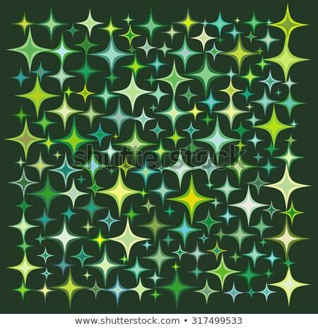 green yellow star collection over a deep green backdrop Stock photo © Melvin07