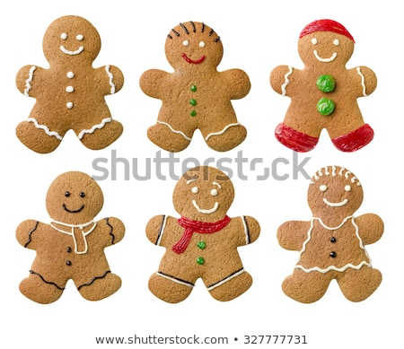 collection of different gingerbread men on a white background stock photo © zerbor