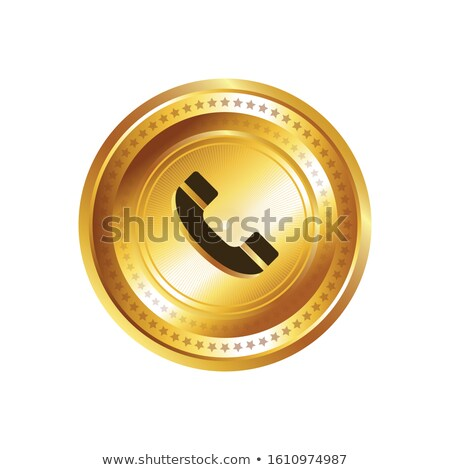Chamar vetor ouro ícone web botão Foto stock © rizwanali3d