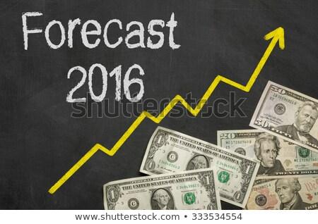 Text on blackboard with money - Forecast 2016 Stock photo © Zerbor