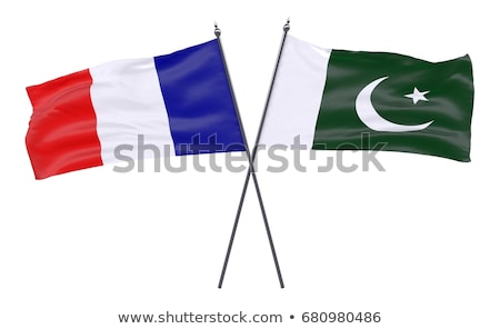Франция Пакистан флагами головоломки изолированный белый Сток-фото © Istanbul2009