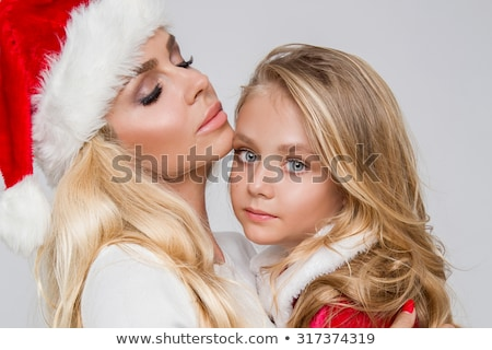 sexy blond christmas girl stock photo © clipartmascots