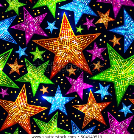 Seamless background with bright blue and magenta stars. Stock photo © gladiolus