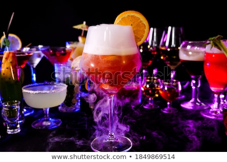 drink in glasses with the effect of dry ice Stock photo © mrakor