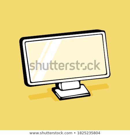 Pc Network Yellow Vector Icon Design Stock photo © rizwanali3d