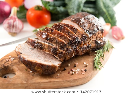 豚肉 · 玉葱 · コピースペース · ディナー - ストックフォト © rojoimages