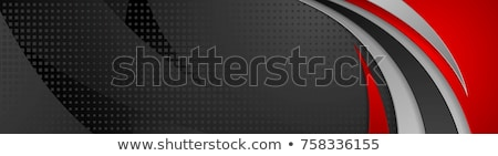 abstrato · contraste · vermelho · preto · ondulado · corporativo - foto stock © saicle