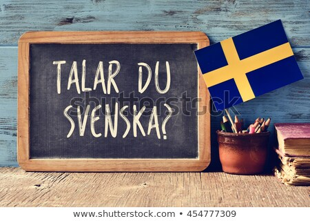 Talar du Svenska, Do you speak Swedish Stock photo © stevanovicigor