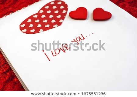 Opschrift liefde bruiloft hart ontwerp Stockfoto © traza