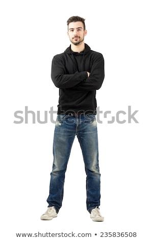 jóvenes · hombre · guapo · cara · hombre · danza · moda - foto stock © zurijeta