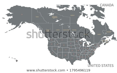 American Map Stock photo © soleilc